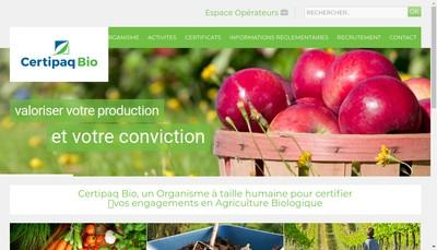 Site internet de Certipaq Bio