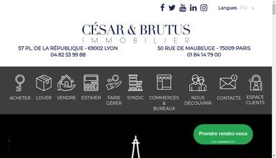 Site internet de Cesar et Brutus Syndic