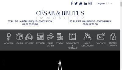 Site internet de Cesar et Brutus