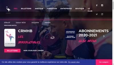 Site internet de Les Irreductibles Cesson Rennes Metropole Handball