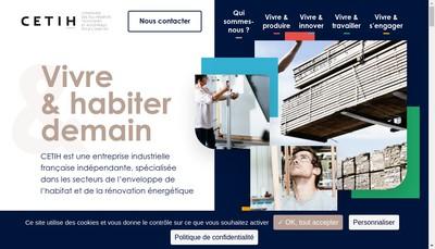 Site internet de Cetih Fenetres