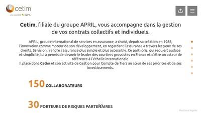 Site internet de April Solutions Entreprises