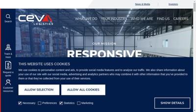 Site internet de Ceva Freight Management France