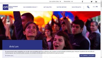 Site internet de Transtele - Canal France International