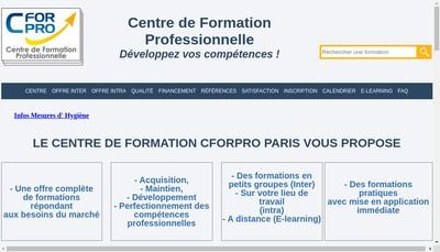 Site internet de Cforpro