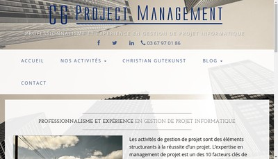 Site internet de Cg Project Management