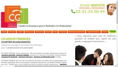 Site internet de Cg Assur Finance