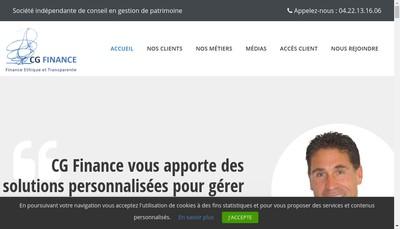Site internet de Cg Finance