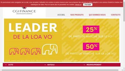 Site internet de Cgi Finance