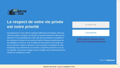 Site internet de Chacun Cherche Son Film
