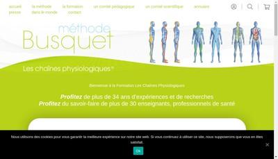 Site internet de Methode Busquet - les Chaines Physiologiques