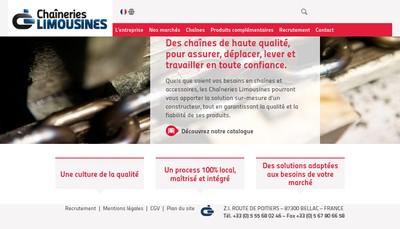 Site internet de Chaineries Limousines