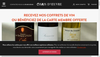 Site internet de Chais d'Oeuvre