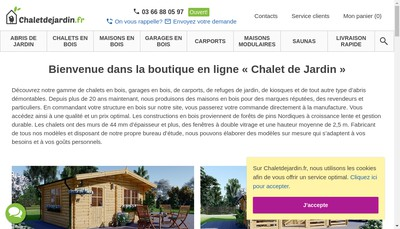 Site internet de Chaletdejardin