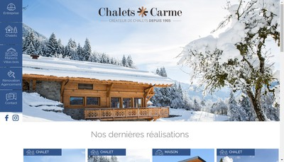 Site internet de Charpente Chalets Carme CC