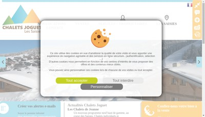 Site internet de Les Chalets Joguet