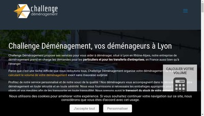 Site internet de Challenge Demenagements