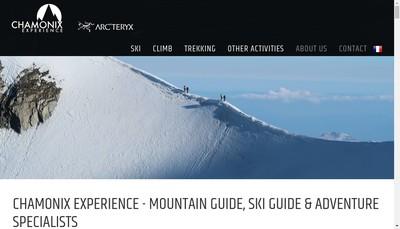 Site internet de Chamonix Experience