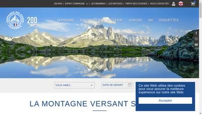 Site internet de Compagnie des Guides de Chamonix