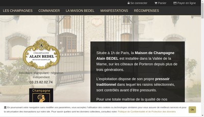 Site internet de SARL Champagne Alain Bedel