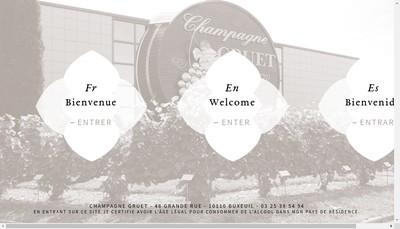 Site internet de Champagne Gruet