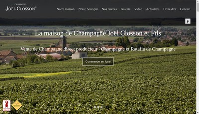 Site internet de SARL Champagne Joel Closson et Fils