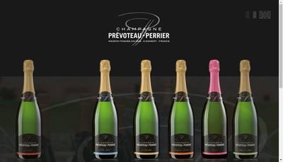 Site internet de Champagne Prevoteau Perrier