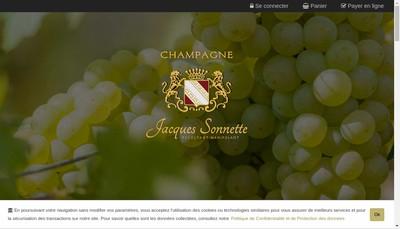 Site internet de Champagne Jacques Sonnette