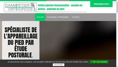 Site internet de Champetier Orthopedie