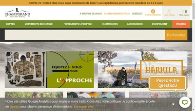 Site internet de Mf Bottes