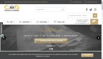 Site internet de Change de la Bourse