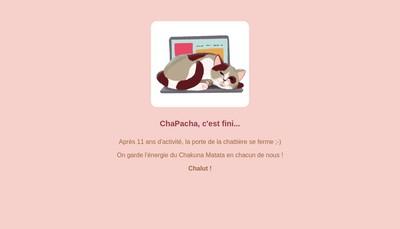 Site internet de Chapacha