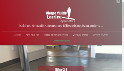 Site internet de Chape Fluide Larrieu
