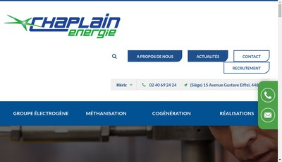 Site internet de Chaplain Energie