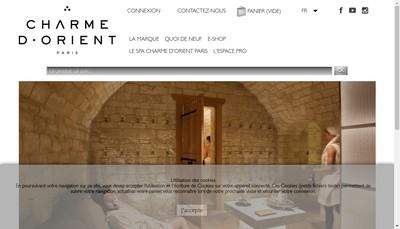 Site internet de Charme d'Orient