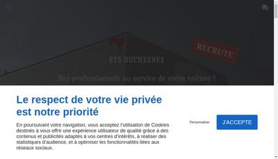 Site internet de SARL Etablissements Duchesnes