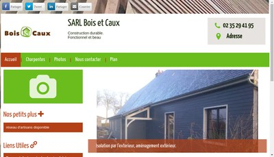 Site internet de Bois et Caux