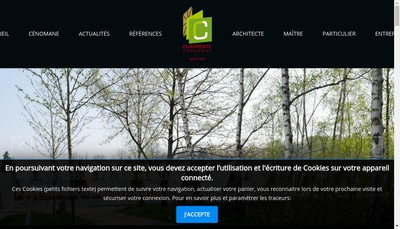 Site internet de Charpente Cenomane
