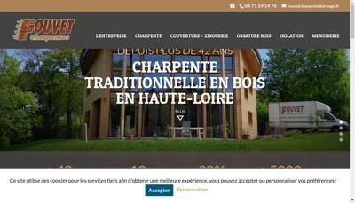 Site internet de Fouvet Charpentes