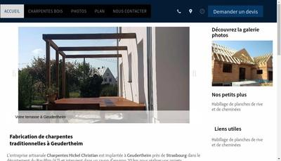 Site internet de Charpentes Hickel Christian