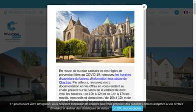 Site internet de Office de Tourisme de Chartres Metropole