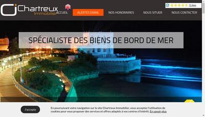 Site internet de Chartreux Immobilier