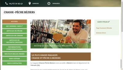 Site internet de Chasse Peche Beziers