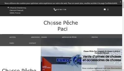 Site internet de Chasse Peche Paci