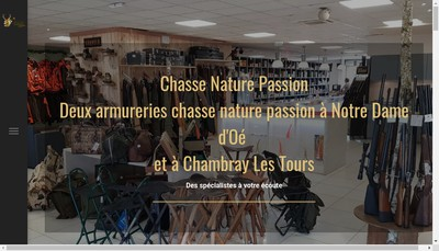 Site internet de Chasse Nature Passion