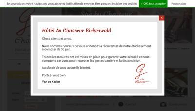 Site internet de Au Chasseur