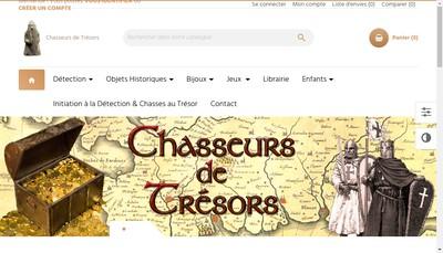 Site internet de Chasseurs de Tresors
