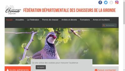 Site internet de Federation Dep des Chasseurs de Gironde
