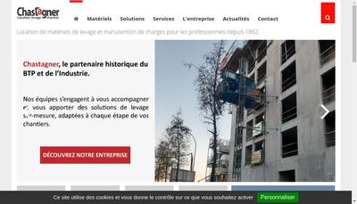 Site internet de Chastagner Location