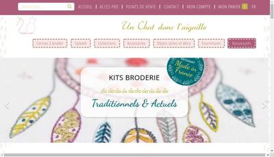 Site internet de Un Chat Dans l'Aiguille